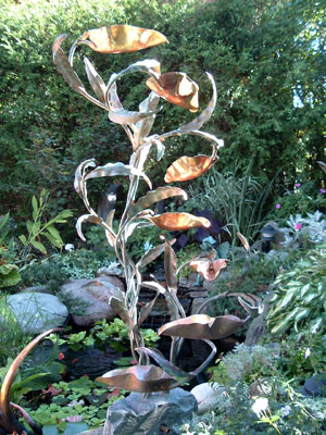 In 1994 Paul Decided To Build A Backyard Water Feature With Waterfall, Pond  And Beautiful Rock Garden. He Created His First Sculptured Copper Fountain  And ...